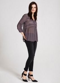 Mint Velvet Smoke Brodrais Blouse
