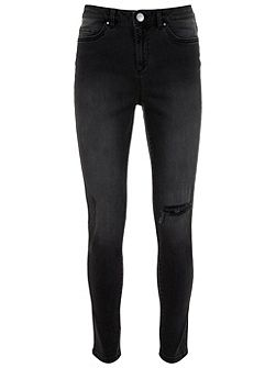 Oakland Black Ripped Skinny Jeans