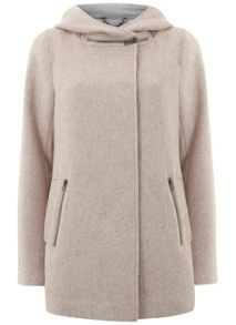 Blush Zip Collar Coat