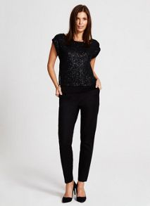 Mint Velvet Black Slim Leg Trousers