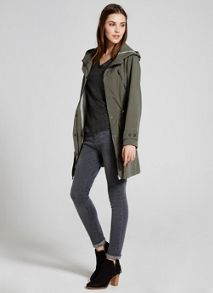Mint Velvet Khaki Hooded Parka
