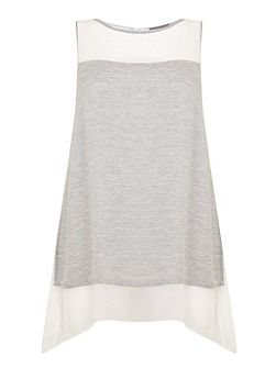 Silver Grey & Ivory Layer Tunic
