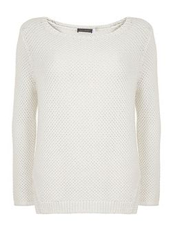 Ivory Textured Knit