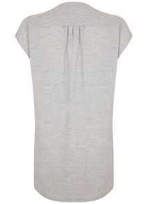 Silver Grey Marl Wrap Top