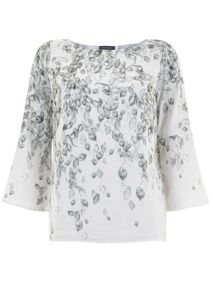 Maia Print Flare Sleeve Top
