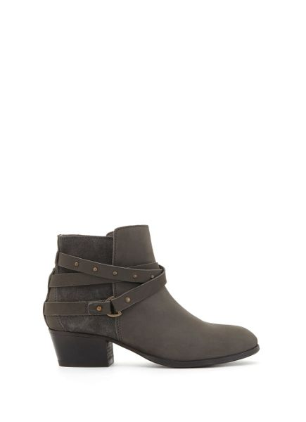 Mint Velvet Grey Sheree Nubuck Ankle Boot