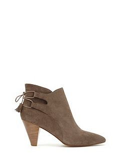 Taupe Rosa Tassel Ankle Boot
