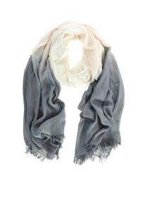 Blush and Grey Ombre Scarf