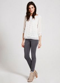 Cream Victoriana Top