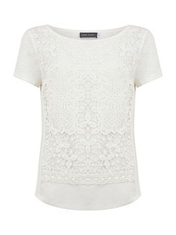 Cream Lace Layer Tee