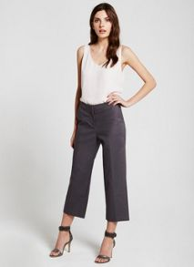 Mint Velvet Smoke Wide Leg Cotton Crop Trouser