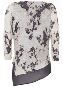 Mint Velvet Rose Print Asymmetric Layer Knit