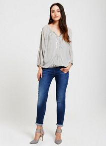 Mint Velvet Sage Sequin Blouson Top