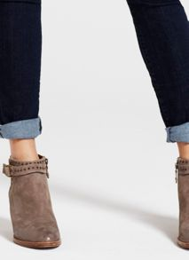 Taupe Zita Stud Ankle Boot