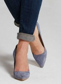 Mint Velvet Indigo Evelyn Suede Court Shoe
