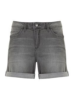 Distressed Grey Denim Short