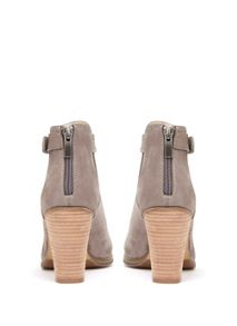 Taupe Viola Cut Out Ankle Boot