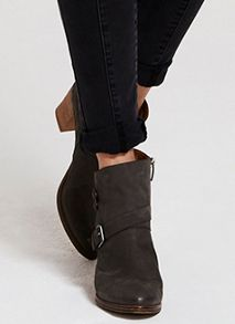Grey Leia Buckle Ankle Boot