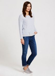 Mint Velvet Tyler Mid Indigo Girlfriend Jean
