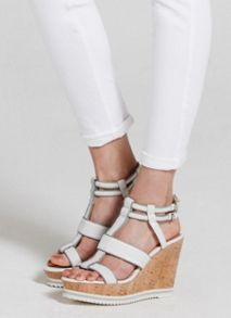 Mint Velvet White & Grey Juno Wedge