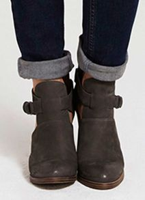 Mint Velvet Grey Tyra Cut Out Ankle Boot