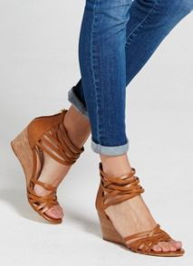 Mint Velvet Tan Ellie Wedge