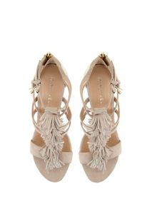 Nude Iona Fringe Wedge