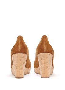 Mint Velvet Tan Honor Suede Wedge