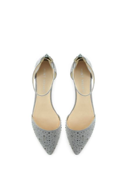 Mint Velvet Grey Bailey Suede Pump