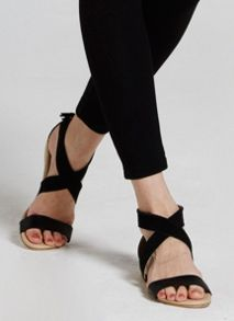 Mint Velvet Black Carmen Tassel Wedge