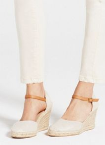 Mint Velvet Sand Gigi Canvas Wedge