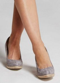 Mint Velvet Grey Grace Pointed Wedge