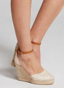 Mint Velvet Nude Briony Textured Wedge Espadrile
