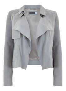 Mint Velvet Dove Suede Jacket