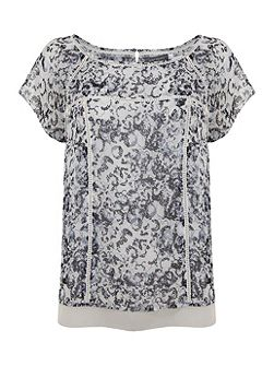 Essence Print Layered Tee