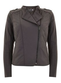 Mint Velvet Smoke Quilted Biker Jacket