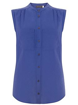 Azure Sleeveless Pocket Shirt