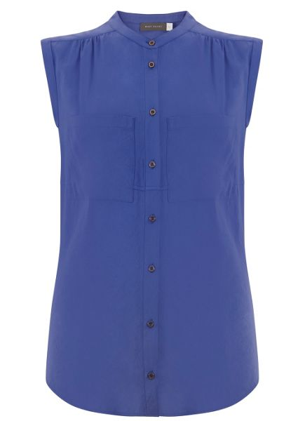 Mint Velvet Azure Sleeveless Pocket Shirt