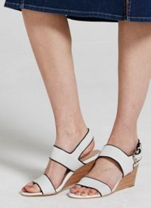 Mint Velvet White Marcy Wedge