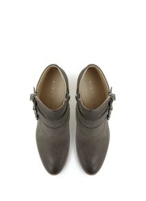 Grey Peggy Ankle Boot