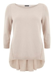 Mint Velvet Nude Voile Back Knit
