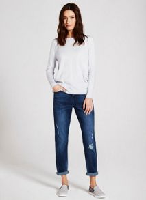 Mint Velvet Cary Distressed Boyfriend Jean
