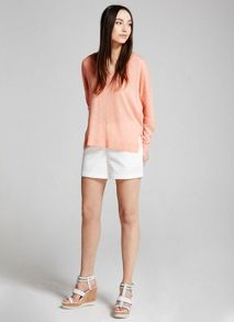 Mint Velvet Sherbet V-Neck Knit