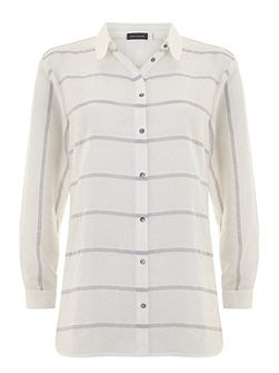 Ivory & Grey Stripe Shirt