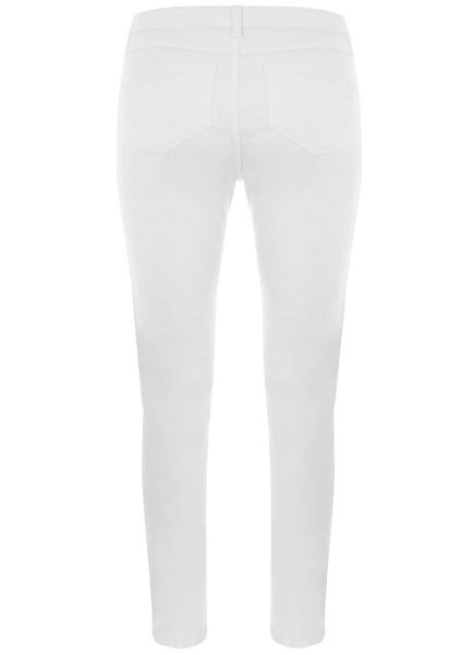 Mint Velvet Dayton White Multi Zip Jean