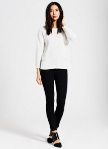 Mint Velvet White Patch Pocket Knit