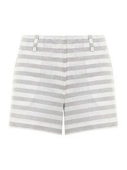 Grey & White Stripe Short