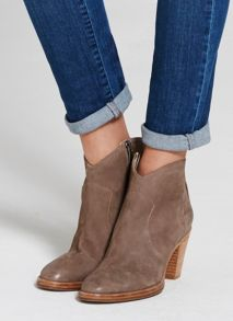 Mint Velvet Taupe Liza Tassel Back Ankle Boot