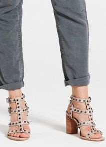 Mint Velvet Stone Billie Studded Sandal