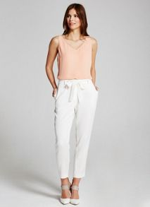 Mint Velvet Cream Belted Sports Pant
